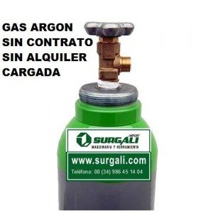 botella gas argon